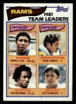 1982 Topps #369   Rams Leaders Front Thumbnail