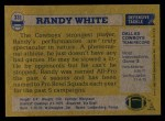 1982 Topps #331  Randy White  Back Thumbnail