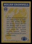 1982 Topps #372   -  Nolan Cromwell In Action Back Thumbnail