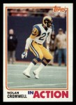 1982 Topps #372   -  Nolan Cromwell In Action Front Thumbnail