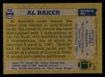 1982 Topps #335  Al 'Bubba' Baker  Back Thumbnail