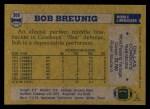1982 Topps #308  Bob Breunig  Back Thumbnail