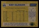 1982 Topps #345  Ray Oldham  Back Thumbnail