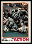 1982 Topps #456   -  Jerry Robinson In Action Front Thumbnail