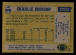 1982 Topps #448  Charlie Johnson  Back Thumbnail