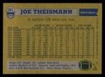 1982 Topps #521  Joe Theismann  Back Thumbnail
