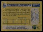 1982 Topps #446  Dennis Harrison  Back Thumbnail