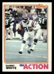 1982 Topps #401   -  Sammie White In Action Front Thumbnail