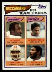 1982 Topps #495   Buccaneers Leaders Front Thumbnail