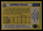 1982 Topps #499  Jimmie Giles  Back Thumbnail