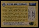 1982 Topps #445  Carl Hairston  Back Thumbnail