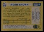 1982 Topps #466  Rush Brown  Back Thumbnail