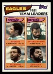 1982 Topps #437   Eagles Leaders Front Thumbnail