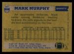 1982 Topps #517  Mark Murphy  Back Thumbnail