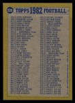1982 Topps #528   Checklist 397-528 Back Thumbnail