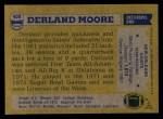 1982 Topps #409  Derland Moore  Back Thumbnail
