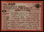 1983 Topps #87  Bill Bain  Back Thumbnail