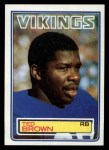 1983 Topps #99  Ted Brown  Front Thumbnail