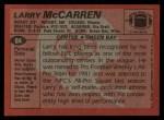 1983 Topps #84  Larry McCarren  Back Thumbnail