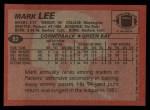 1983 Topps #82  Mark Lee  Back Thumbnail