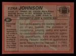 1983 Topps #81  Ezra Johnson  Back Thumbnail