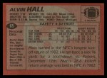 1983 Topps #65  Alvin Hall  Back Thumbnail