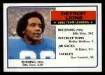 1983 Topps #58   Lions Leaders Front Thumbnail