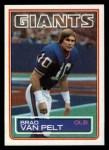 1983 Topps #134  Brad Van Pelt  Front Thumbnail