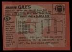1983 Topps #178  Jimmie Giles  Back Thumbnail