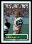 1983 Topps #139  Tony Franklin  Front Thumbnail