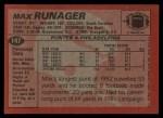 1983 Topps #147  Max Runager  Back Thumbnail
