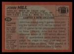 1983 Topps #115  John Hill  Back Thumbnail