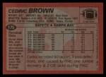 1983 Topps #175  Cedric Brown  Back Thumbnail