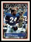 1983 Topps #127  Terry Jackson  Front Thumbnail
