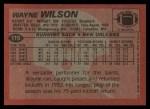 1983 Topps #119  Wayne Wilson  Back Thumbnail