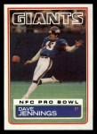 1983 Topps #128  Dave Jennings  Front Thumbnail