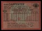 1983 Topps #122  Rob Carpenter  Back Thumbnail