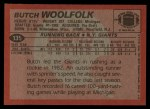 1983 Topps #135  Butch Woolfolk  Back Thumbnail