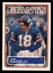 1983 Topps #124  Joe Danelo  Front Thumbnail