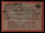 1983 Topps #181  James Owens  Back Thumbnail