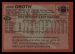 1983 Topps #114  Jeff Groth  Back Thumbnail