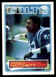 1983 Topps #213  Derrick Hatchett  Front Thumbnail