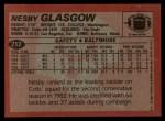 1983 Topps #212  Nesby Glasgow  Back Thumbnail