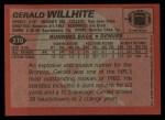 1983 Topps #270  Gerald Willhite  Back Thumbnail