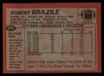1983 Topps #275  Robert Brazile  Back Thumbnail