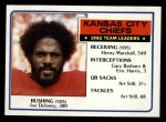 1983 Topps #282   Chiefs Leaders Front Thumbnail