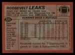 1983 Topps #225  Roosevelt Leaks  Back Thumbnail