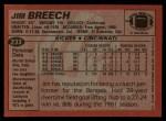 1983 Topps #233  Jim Breech  Back Thumbnail