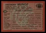 1983 Topps #240  Anthony Munoz  Back Thumbnail