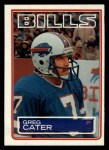 1983 Topps #222  Greg Cater  Front Thumbnail